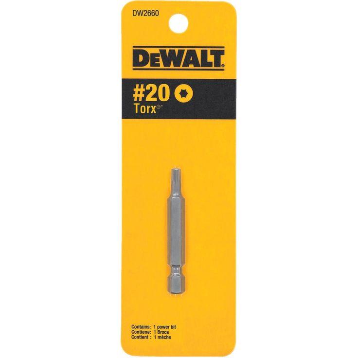 DeWalt 2 T20 Torx Insert Bit, Silver steel