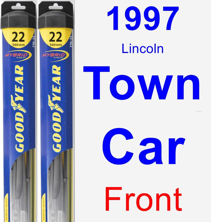 Front Wiper Blade Pack for 1997 Lincoln Town Car - Hybrid