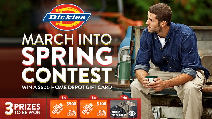You should enter March into Spring with Dickies Canada. There are great prizes and I think one of us could win!