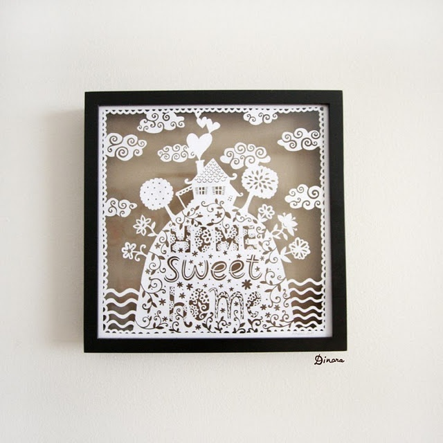 simple (?) papercutting...this woman does amazing work...