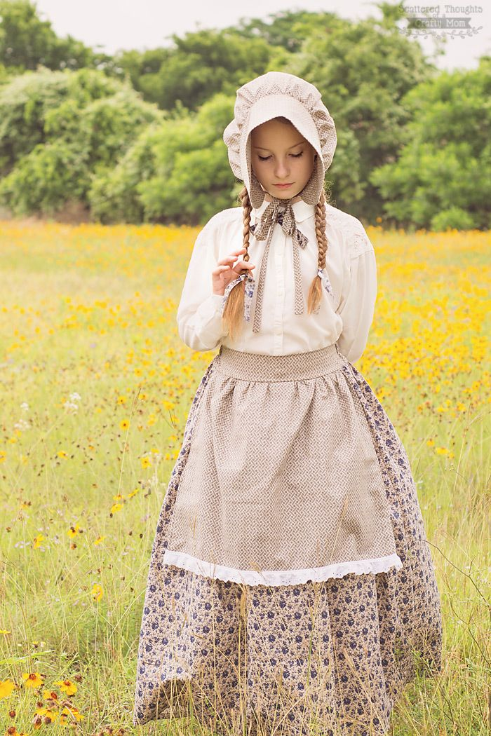 Laura Ingalls Wilder Costume - Little House on the Prairie Costume and Bonnet Tutorial