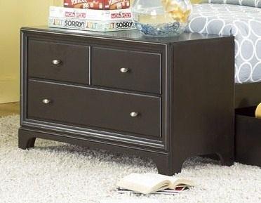 Midtown 2 Drawer Dresser Footboard In Dark Cherry Finish; Solid Hardwood  And Veneers; 41