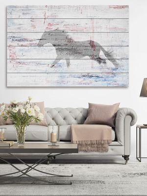 Grey Horse Trot by Parvez Taj (Wood)