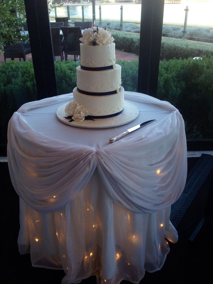 Cake Table with Fairy Lights