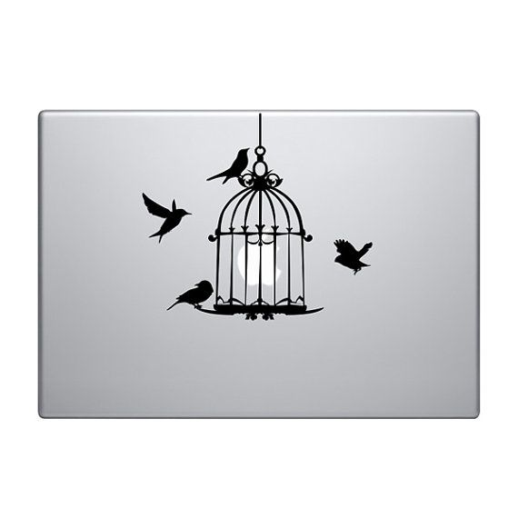 Birdcage Vinyl Decal Sticker To Fit Macbook Pro - Custom vinyl decals macbook