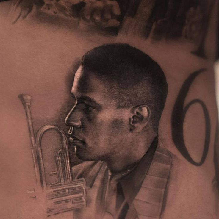 Portrait of Denzel Washington as jazz musician Bleek Gilliam from Spike Lee's 1990 film Mo' Better Blues.