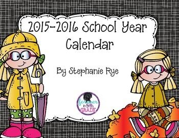 Grab this adorable 2016-2017 calendar for free just in time for back to school!Copyright 2016 - Stephanie Rye - Forever in Fifth Grade*****************************************************************************Customer Tips: How to get TPT credit to use on future purchases:       Please go to your My Purchases page (you may need to login).