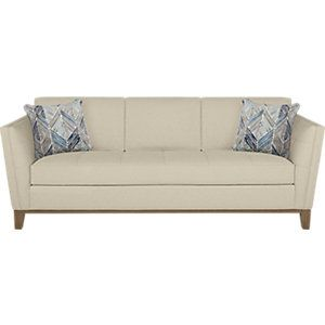 Cindy Crawford Home Park Boulevard Beige Sofa clicking on image will open up a modal window for this item