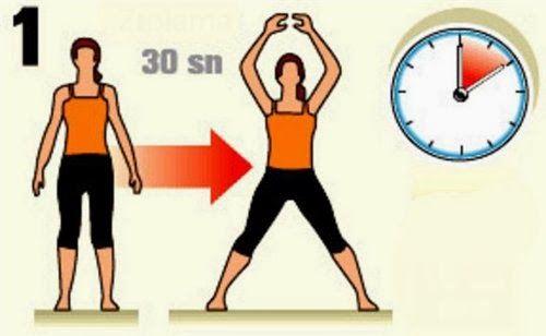 Evde Kolay Zayıflama Kilo Verme Hareketleri Resimli | Sağlıklı Zayıfla Mutlu Kal