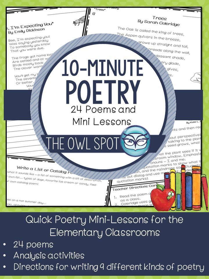 10 Minute Poetry Mini Lessons - Makes Poetry Easy for ...