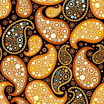 Retro decoración del patrón de diseño de fondo