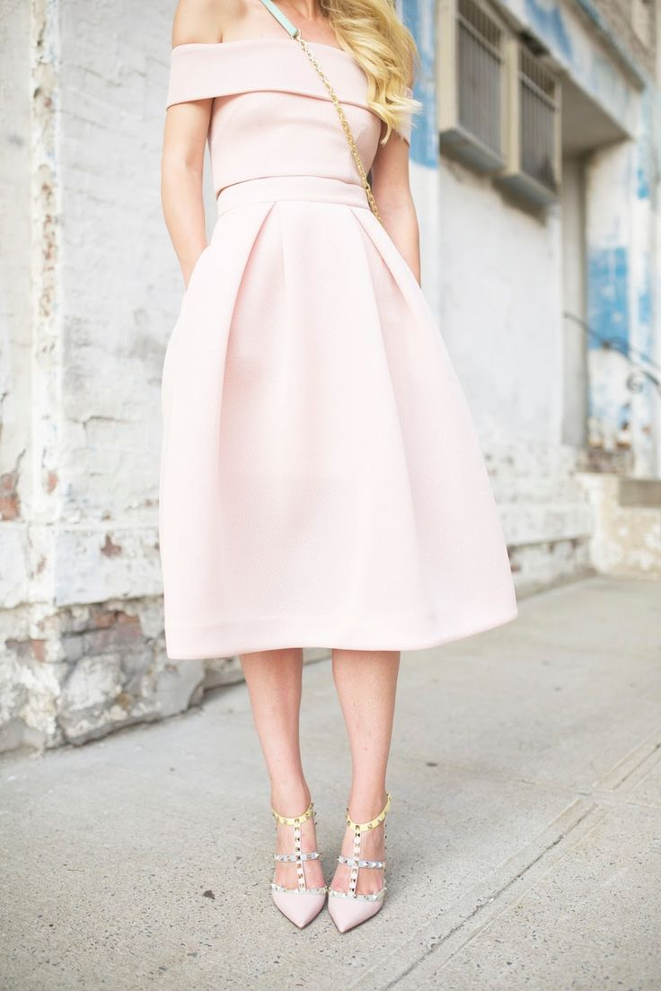 Ice Pink, Off the Shoulders - dress.