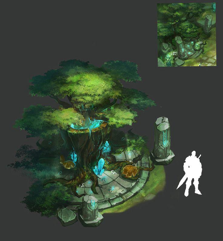 Soul Tree in Forest, Suroo . on ArtStation at https://www.artstation.com/artwork/q0xvn