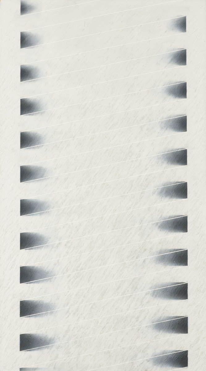 Jukka Mäkelä: Vangittu valo, 1978, 180x100 cm - Vallilan kirjasto