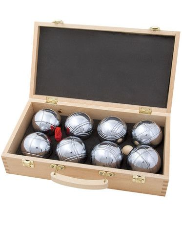 Boules (Petanque) In Your Court in Wooden Box