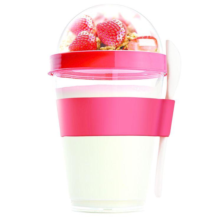 Yo2Go - Yoghurt og mysli take-away krus!