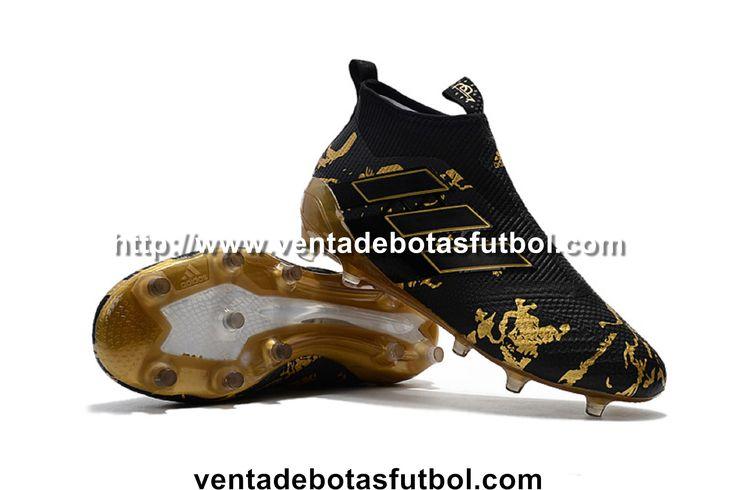 Botas De Futbol Adidas ACE 17+ Purecontrol FG - Dorado/Negro Barcelona