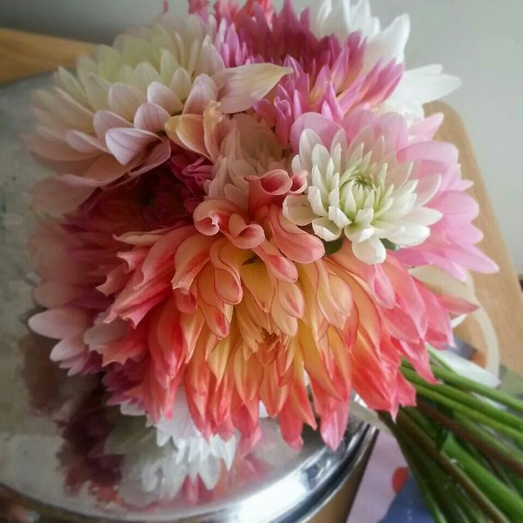 Coral wedding bouquet ♡