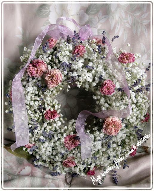 natural plants, roses wreaths