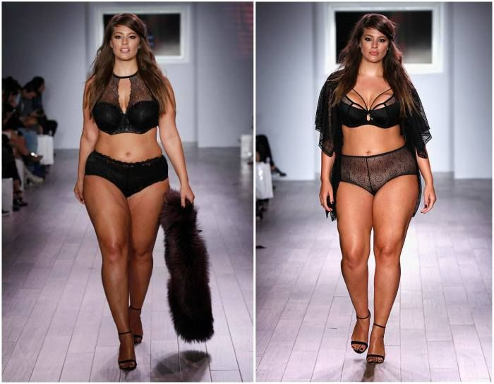Ashley Graham's weight - 201 pounds (95 kg)