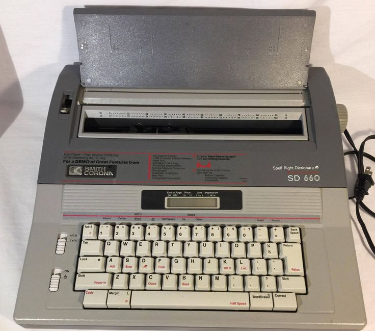 SMITH CORONA ELECTRIC TYPEWRITER SD660 MEMORY SPELL-RIGHT DICTIONARY WORKS/CLEAN #SmithCorona