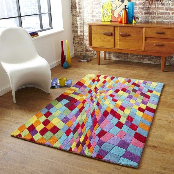 Prism Rugs Are Hand Made In India With A Wool And Viscose