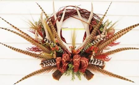 deer antler wreath - Google Search