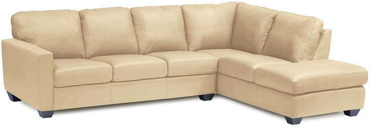Asstd National Brand Leather Possibilities 2-pc. Right-Arm Corner Sectional