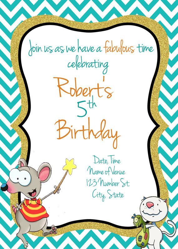 Toopy and Binoo Birthday Invitation Toopy and by AdelesAccessories
