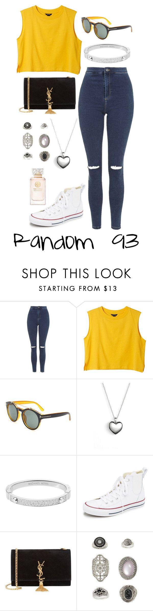 """Random 93"" by megan-walz21 ❤ liked on Polyvore featuring Topshop, Monki, Pandora, Michael Kors, Converse, Yves Saint Laurent and Tory Burch"