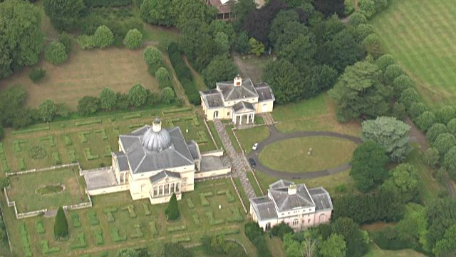 Aerial shots of Mereworth Castle, a Grade 1 listed country house built in the Palladian style.>> on July 29, 2015 in Maidstone, United Kingdom.
