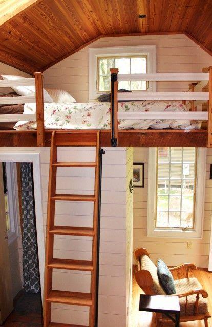 Tiny Loft Cabin Sleeping Loft In Tiny Cabin Compact