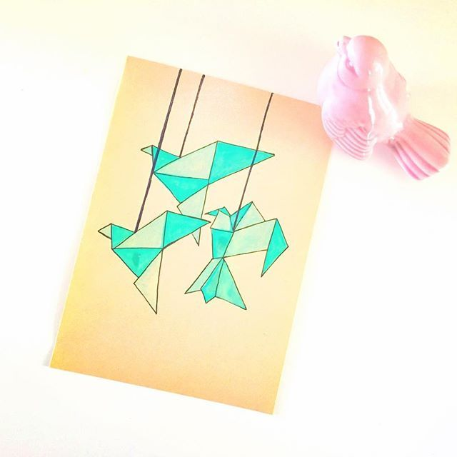 mothers day crane card origami pinterest