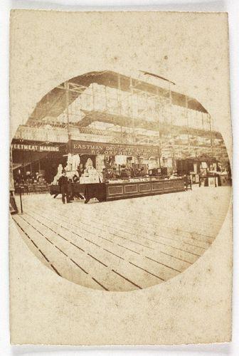 Roger Fenton, The Eastman Dry Plate and Film Company stand at a trade fair. 1889 (ca). Kodak circular snapshot print. National Media Museum.