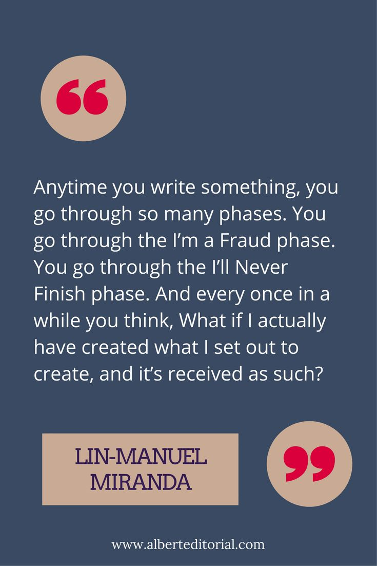 The many phases of writing, as told by Lin-Manuel Miranda.