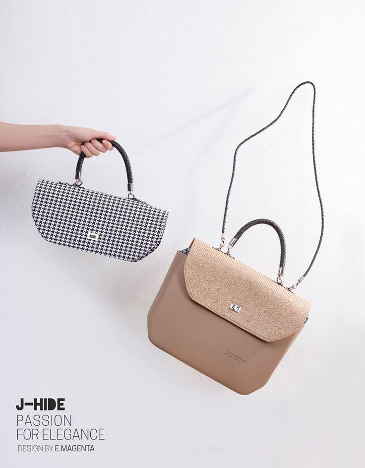 J-HIDE, la borsa intercambiabile disegnata da Emanuele Magenta. Componi il tuo stile. www.justo-store.com