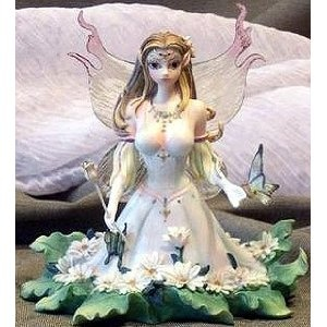 """Love it!!    , , 1 , ,NEW, DIAMONDS & DAISIES, , RETIRED, Cute Series, This, cutie, pie, fairy, Exquisite detail and colors, make this fairy figurine wonderfully realistic, Collectibles, exquisite collection, of, Fairy Sprite, For the , PIXIE, FAIRY, FANTASY, MYTHICAL, CREATURE, ROMANTIC, MERMAID, RESIN, MYTHICAL CREATURES, COLLECTOR, HAND PAINTED, OUTSTANDING DETAILS, GREAT PIECE, ABOUT, 5""""x5"""", in, NEW, Full COLORED, BOX, BOOK, BOOKS, UPC 609722847148 (Kitchen)…"""