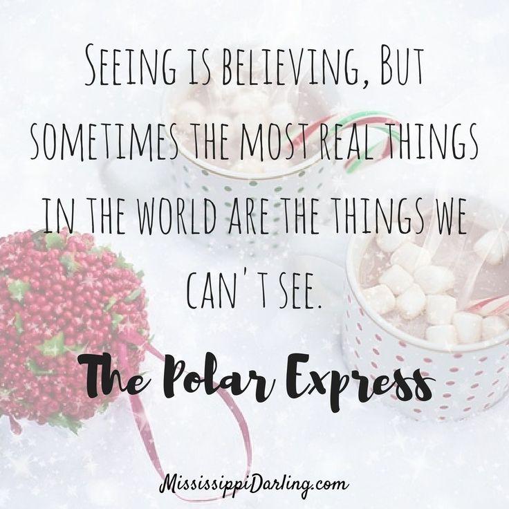 Christmas Movie - Polar Express Quote