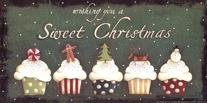 Sweet Christmas Art Print by Jill Ankrom at Urban Loft Art