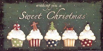 Sweet Christmas Art Print by Jill Ankrom at Urban Loft Art