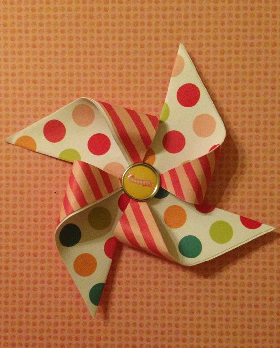 Pinwheel peelnstick Present Party Topper by CEDesignsandEvents, $3.00