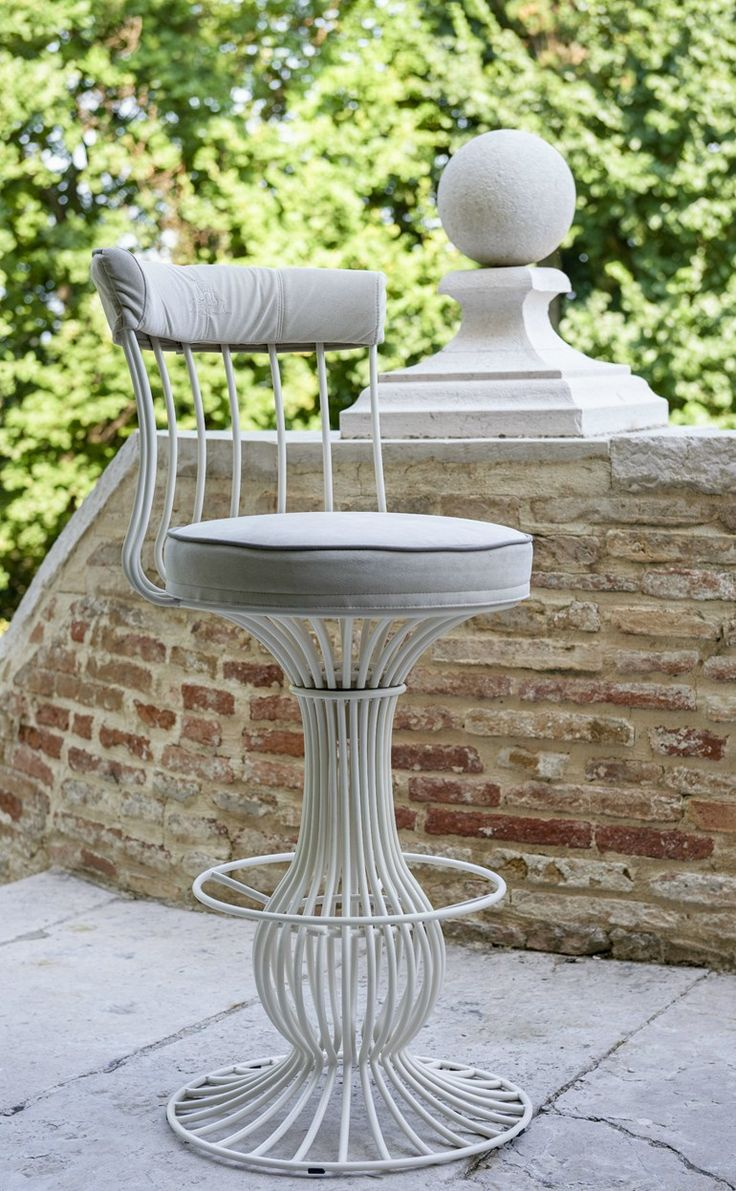 SIRIO Counter Stool By Samuele Mazza Outdoor Collection By DFN