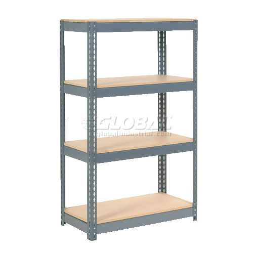 """$96, + $22 for extra shelves, Extra Heavy Duty Shelving 36""""W x 24""""D x 60""""H With 4 Shelves, Wood Deck"""
