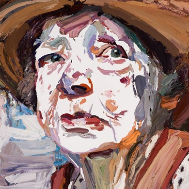 Ben Quilty painting Margaret Olley