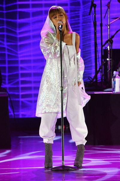 Ariana Grande Photos Photos - Singer Ariana Grande performs onstage during Macy's Presents Fashion's Front Row on September 7, 2016 in New York City. - Macy's Presents Fashion's Front Row - Show
