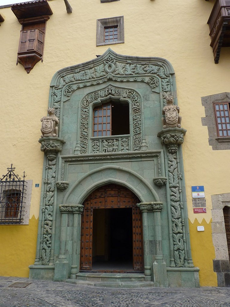 Doorway of Casa de Colón, Las Palmas, Gran Canaria
