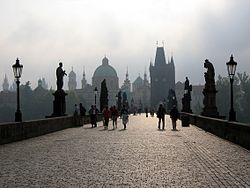 Charles Bridge in Praha!  So dreamy.  Crossed it many a times.  Beautiful and captivating city.