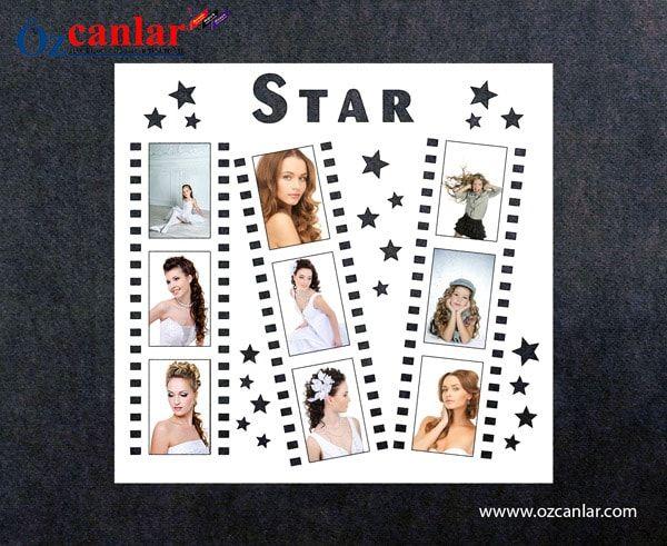 #star #film #şeridi #çoklu #çerçeve #fotoğraf #çerçevesi #multi #frame #resim