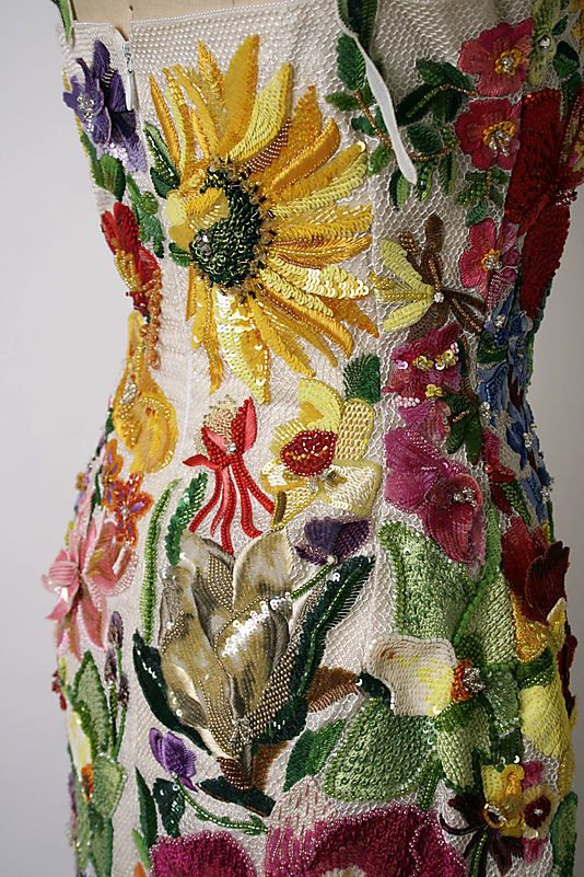 Ensemble. Todd Oldham, spring/summer 1996. Medium: (a) silk, linen, plastic; (b, c) leather, synthetic. #Details