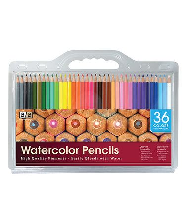 Another great find on #zulily! 36-Ct. Watercolor Pencil Set #zulilyfinds